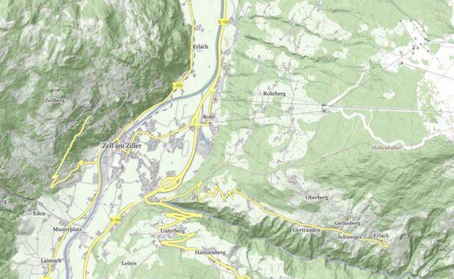 Zell-am-Ziller-map